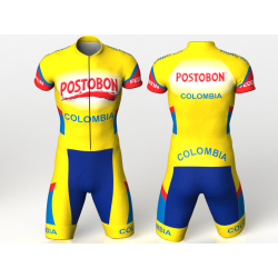 NATIONAL TEAM COLOMBIA YELLOW INLINE CYCLING SUIT