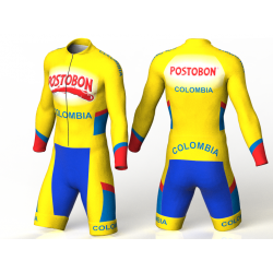National team Colombia yellow inline skating suit