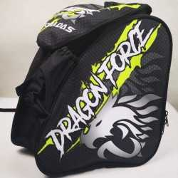 Dragon force neon green padded skating backpack for girls, women, men, kids
