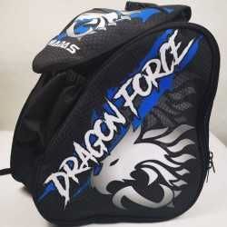 Dragon force blue padded skating backpack for girls, women, men, kids