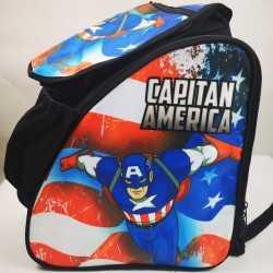 Captain America padded skating backpack for girls, women, men, kids