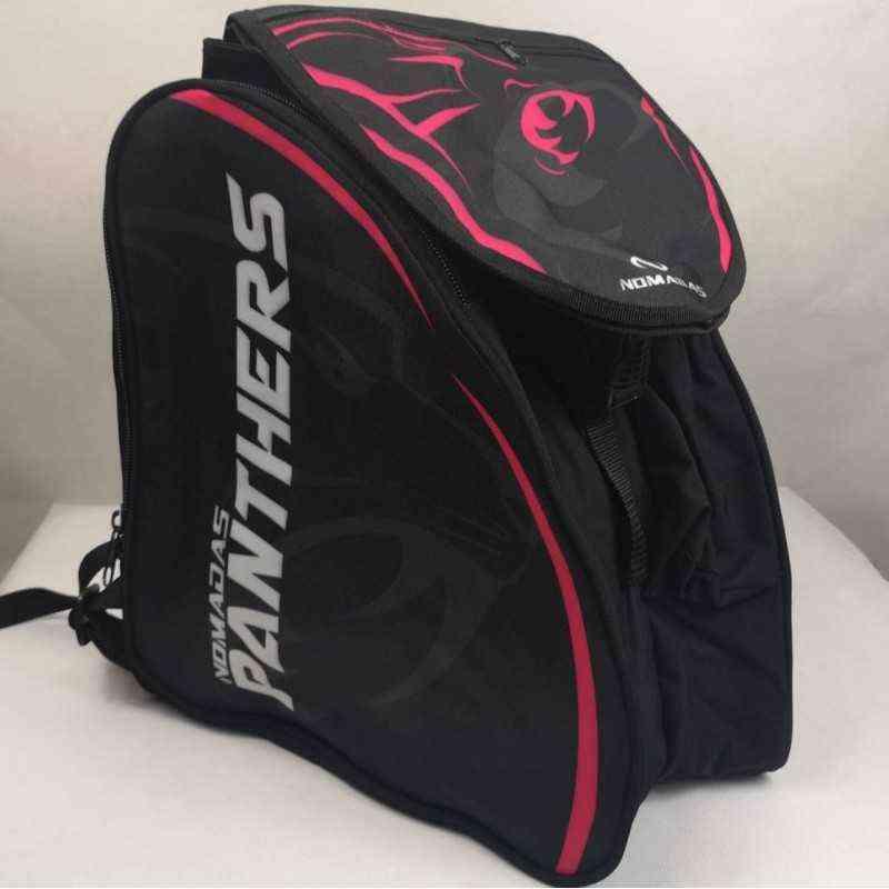 Maleta morral bolso de para patines patinaje panther fucsia para niñas, mujeres,hombres,niños
