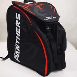 Maleta morral bolso de para patines patinaje panther rojo para niñas, mujeres,hombres,niños