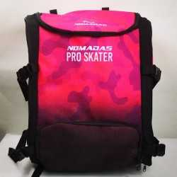 Pro-skater thermoformed backpack Camouflaged fuchsia speed skating