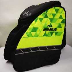 Green Triangles backpack speed skating for girls, women, men, kids