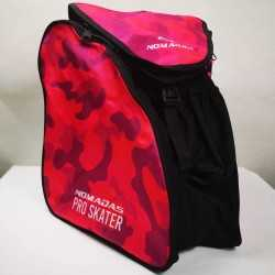 Camouflaged fuchsia thermoformed backpack speed skating for girls, women, men, kids