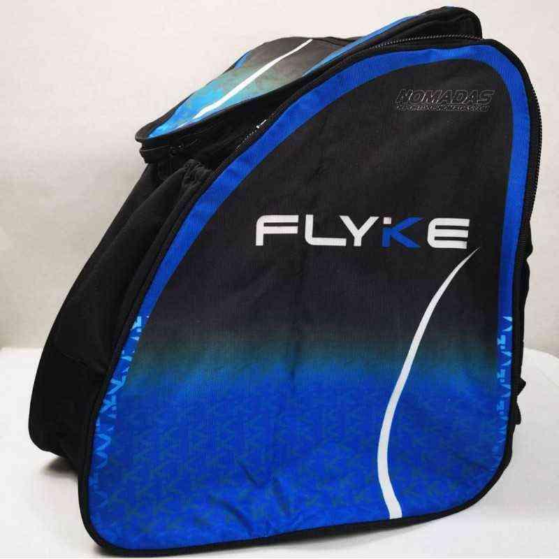 Flyke blue thermoformed backpack speed skating for girls, women, men, kids