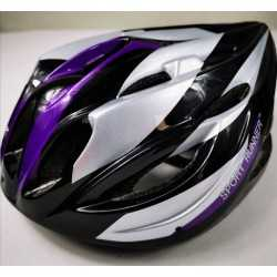 Helmet Sport Runner Purple black Skate and Cycling