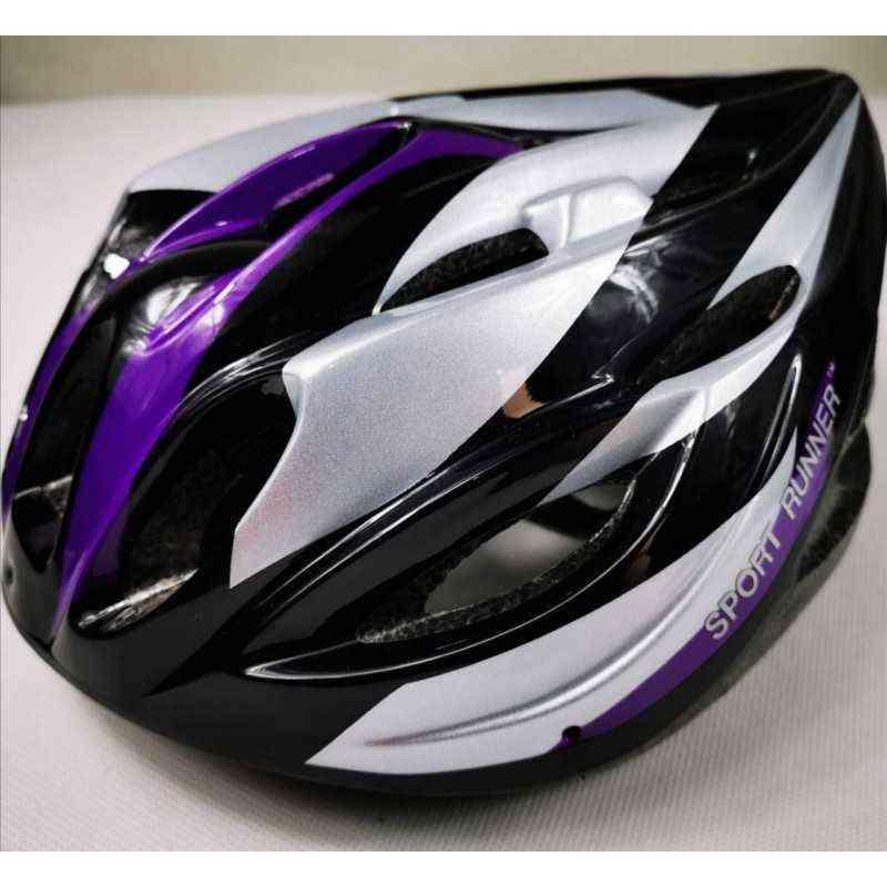 casco de para patinar patinaje montar en ciclismo bicicleta para mujer niña dama unisex sport runner morado negro