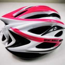 Helmet Sport Runner White fuchsia for Skating and Cycling