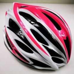 Helmet Sport Runner White fuchsia for Skating and Cycling
